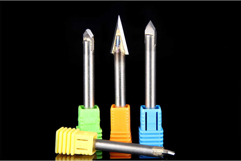 Highly Sharp Carbide Alloy Engraving Bit , CNC Engraving Bits ISO Compliant